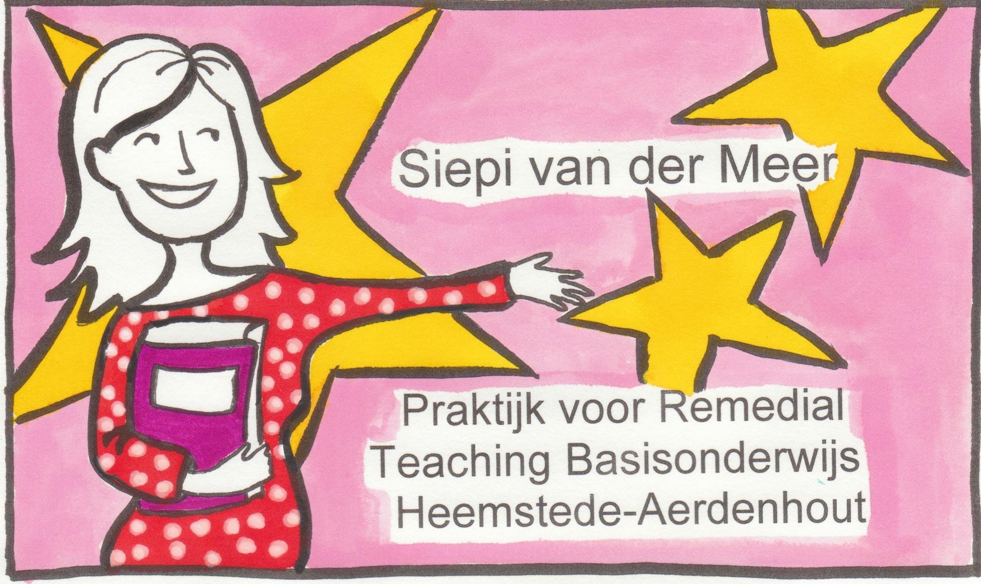 Visitekaartje Praktijk voor Remedial Teaching Basisonderwijs Heemstede-Aerdenhout